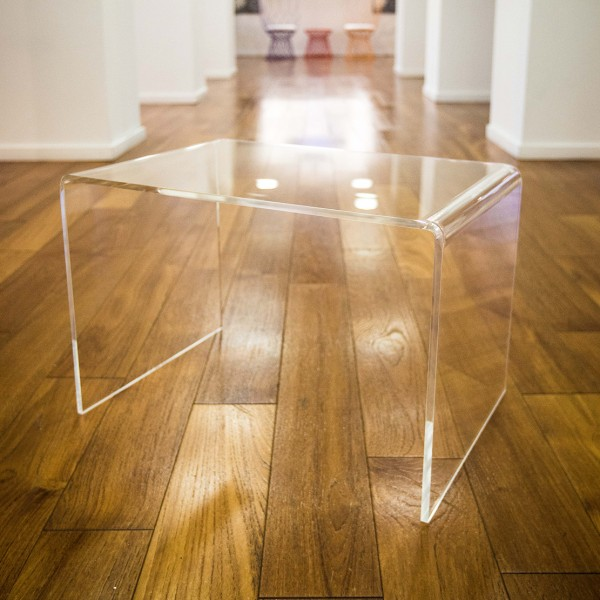 Design comodino tavolino plexiglass brillante l 90x40 h 40 - Tavolino plexiglass ...