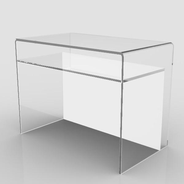 Scrittoio scrivania design plexiglass vetro acrilico - Mobili in plexiglass ...