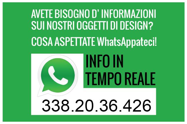 info in tempo reale con whatsapp