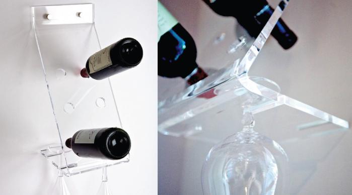 Ben noto Portabottiglie vino da parete in plexiglass: Design Shop Online WH09