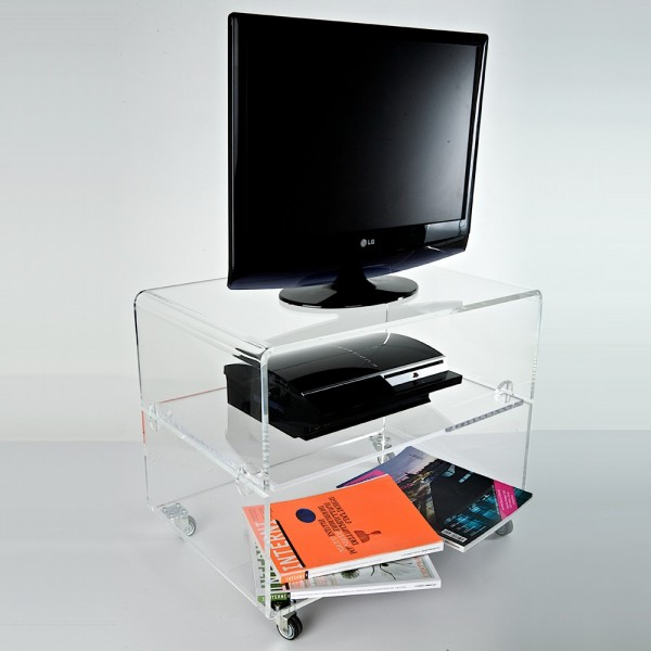 carrello porta tv plexiglass