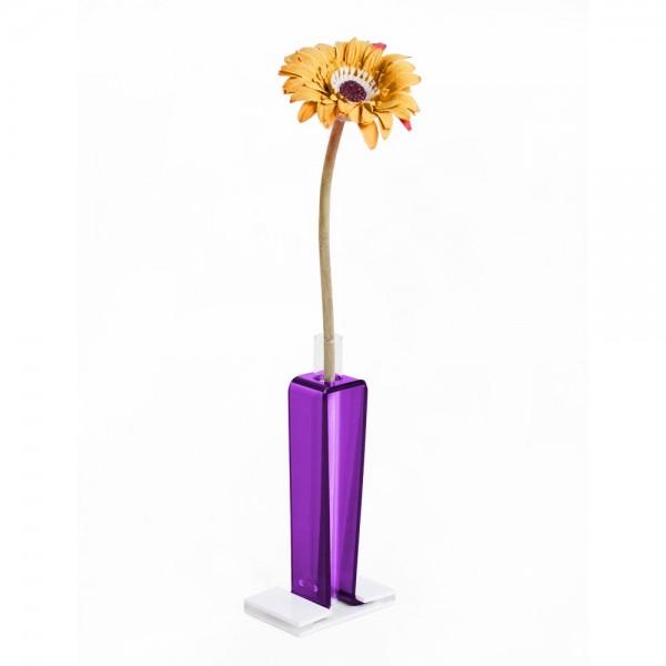 Vasi design viola moderno in plex