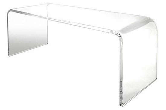 tavolo in plexiglass trasparente