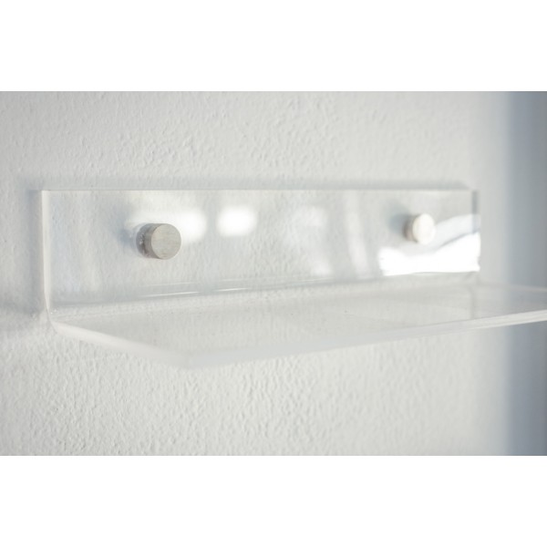 Mensole design plexiglass le uniche mensole senza - Mensole bagno senza forare ...