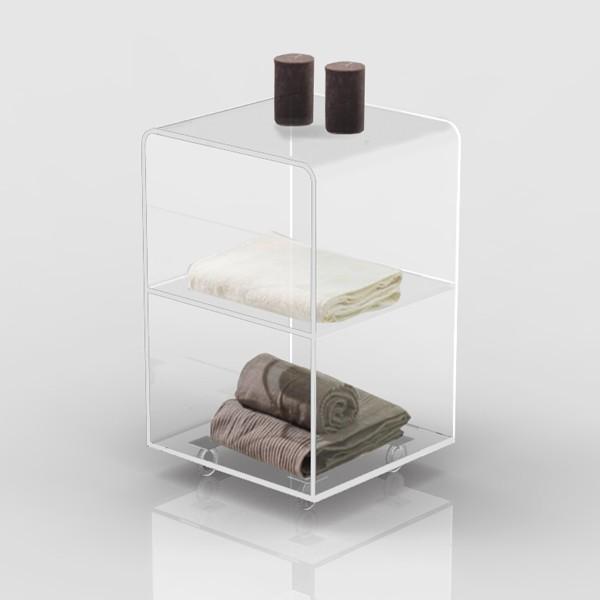 Plexiglass carrellino salvaspazio carrello per bagno o cucina 40x40 h 60 cm ebay - Mobile bagno profondita 40 ...