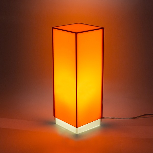 Modern Orange Bedside Perspex Acrylic
