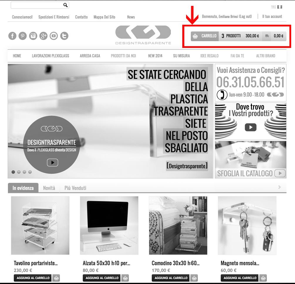 Carrello Designtrasparente Shop