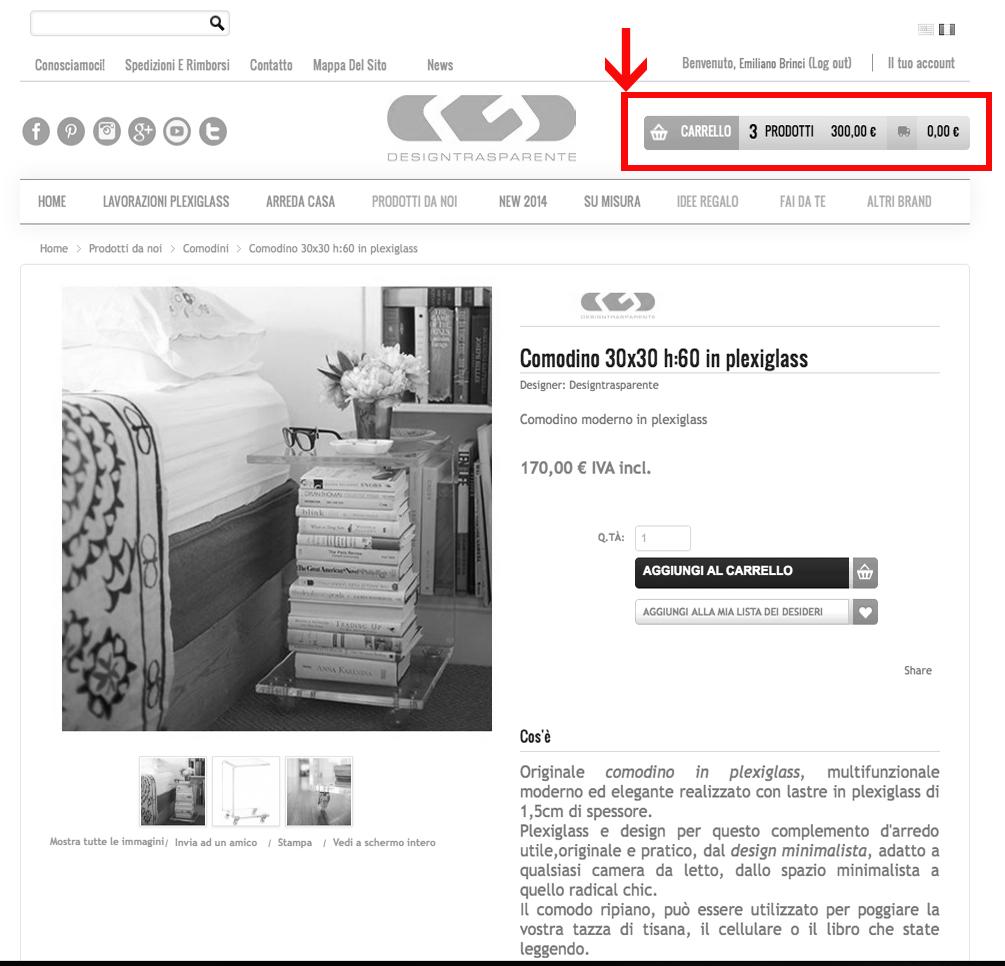 design shop online Designtrasparente