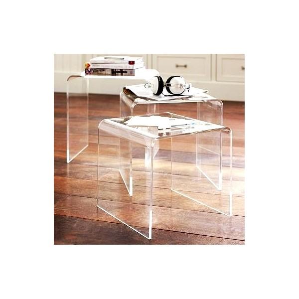 Tavolini plexiglass da salotto dal design moderno