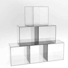 Cubo da terra 15x15h15 espositore in plexiglass trasparente