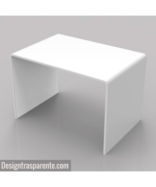 White coffee table 60x40 h:40