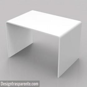 White coffee table 60x40 h:40