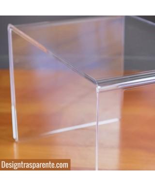 Tavolino a ponte 90x50h40 da salotto in plexiglass trasparente