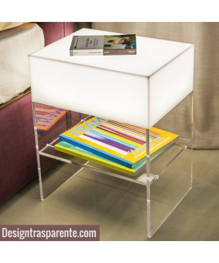 Acrylic lighted nightstand