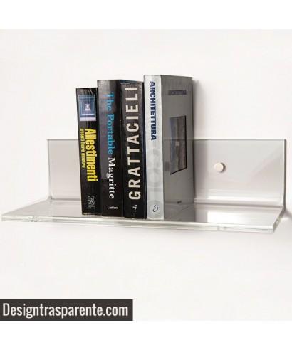 Mensola 60x30 in plexiglass trasparente alto spessore