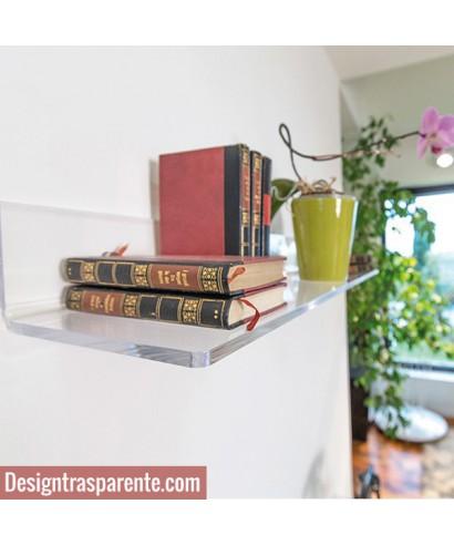 Mensola 60x25 in plexiglass trasparente alto spessore