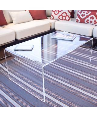 Tavolo a ponte 100x50h35 da salotto in plexiglass trasparente