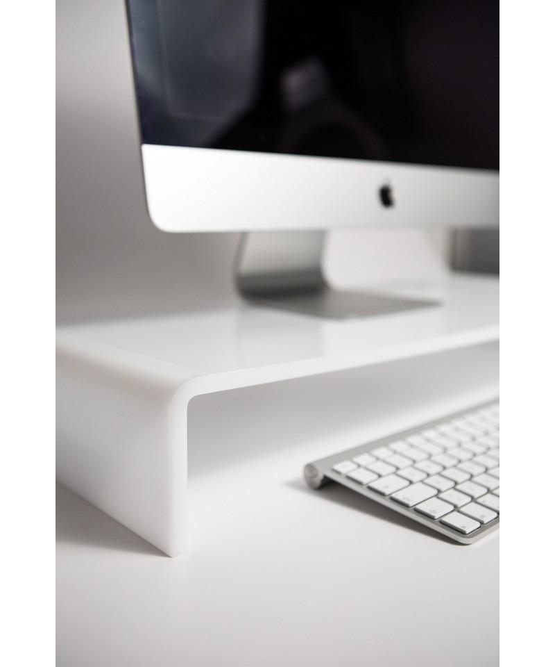 Alzatina 30x25h40 supporto in plexiglass per TV e PC