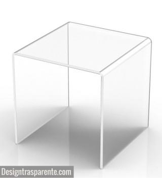 Sgabello in plexiglass trasparente per doccia e bagno