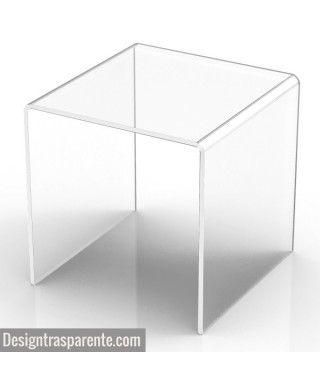 Taburete de ducha en metacrilato transparente para baño