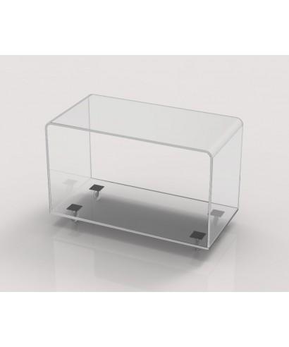 Porta Tv in plexiglass con ruote 70x35 h:45