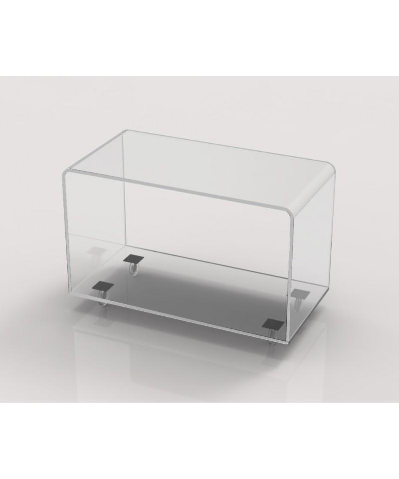 Porta tv in plexiglass con ruote 70x35 h 45 - Porta tv plexiglass ...