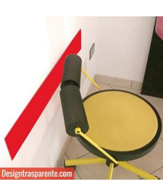 Fasce paracolpi rosso 99 cm battisedia in plexiglass