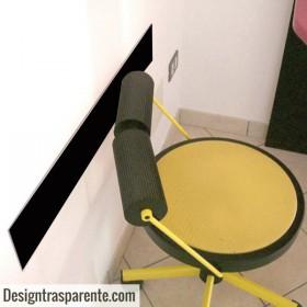 Black acrylic chair rail cm 99 wall protector