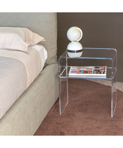 Acrylic bedside table 40x30 h:45