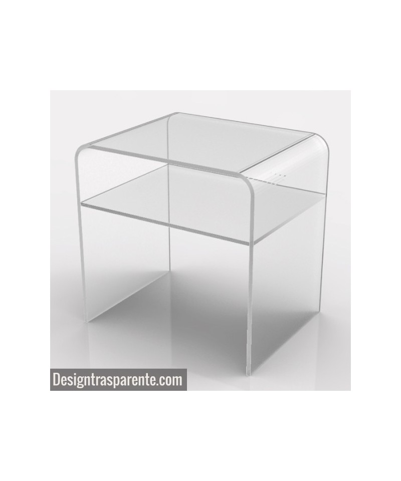 Perspex bedside table 50x35 h:50