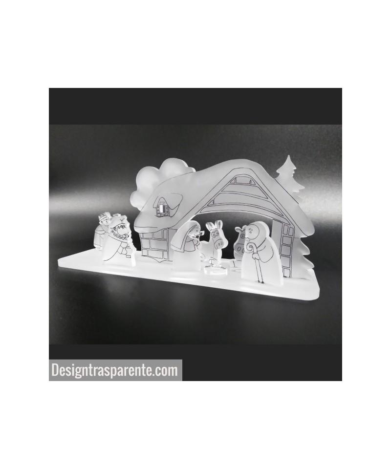Acrylic modern nativity scene
