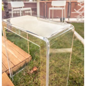 Consolle 60x35h90 scrivania in plexiglass trasparente