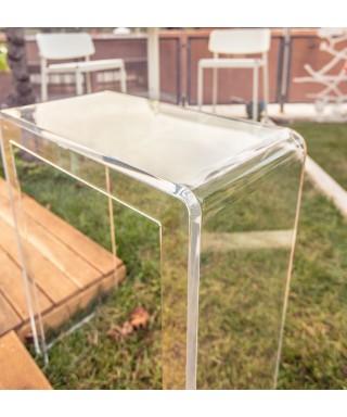 Consolle scrivania 70x25h90 in plexiglass trasparente