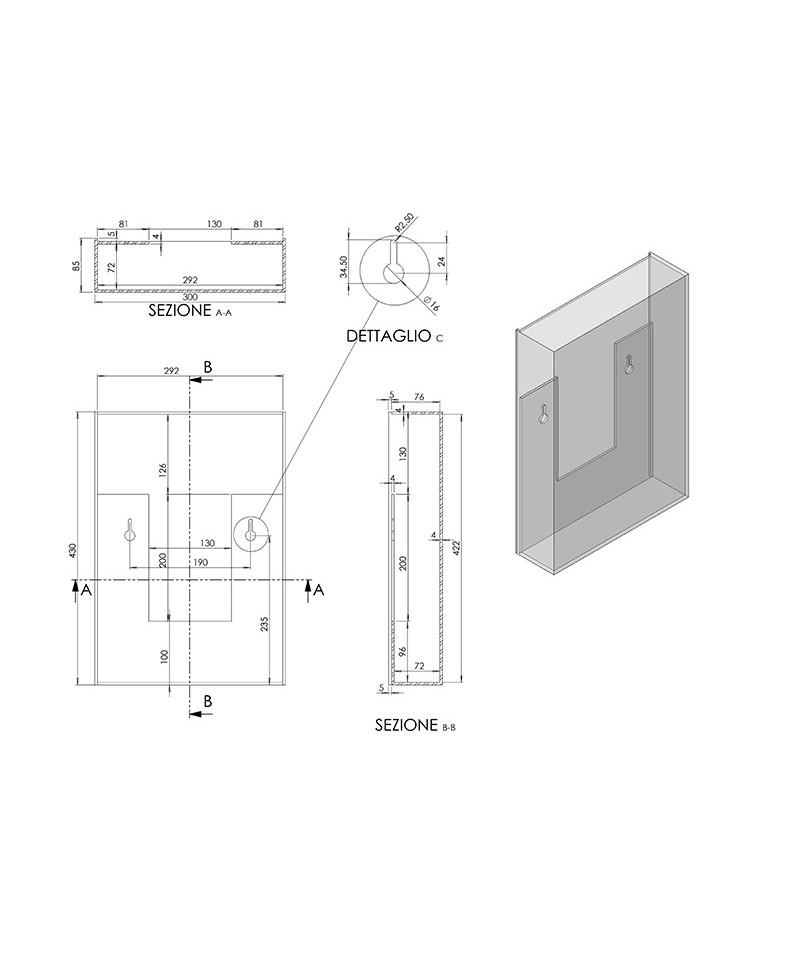 Cassetta Portalettere su misura in plexiglass trasparente