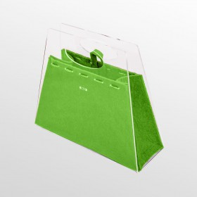 Borsetta Chicca borsa fashion in plexiglass trasparente e verde