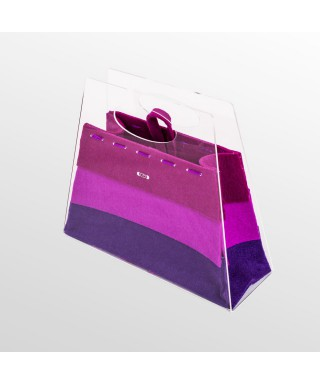 Borsetta Chicca borsa fashion in plexiglass trasparente e viola