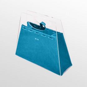Borsetta Chicca borsa fashion in plexiglass trasparente e marrone