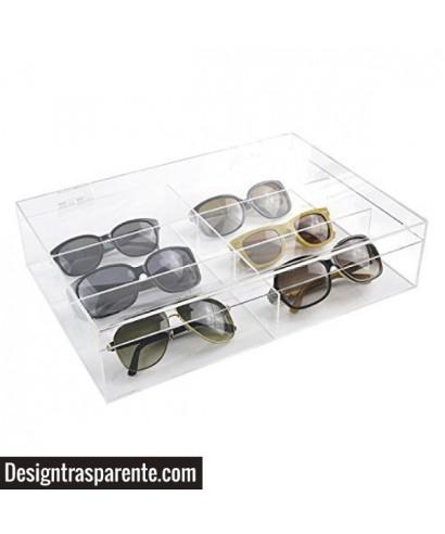 Box porta occhiali - custodia in plexiglass trasparente