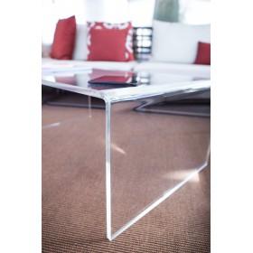 Acrylic coffee table cm 100x40 lucyte clear side table plexiglass
