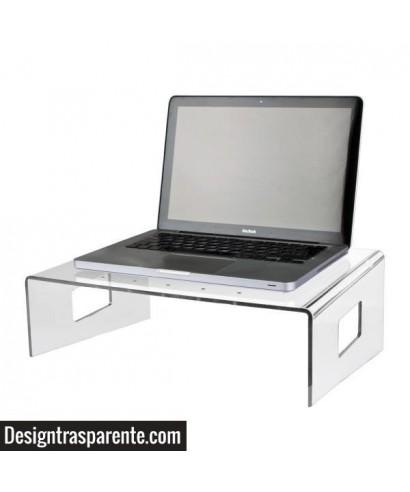 Servilio supporto per portatile in plexiglass trasparente