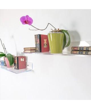 Mensola 40x25 in plexiglass trasparente alto spessore