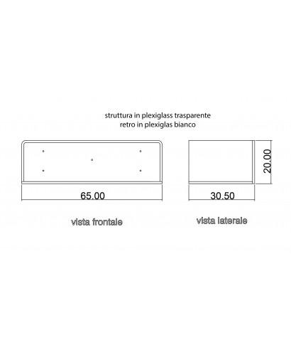 Acrylic entrance consolle 85x20 h:20