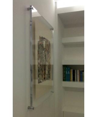 Cornice cm 45x55 a giorno in plexiglass con distanziali