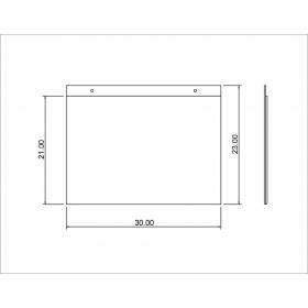 Tasca in plexiglass A4 orizzontale per foglio singolo