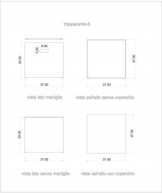 Vinilio 33 giri, contenitore con coperchio per vinili LP