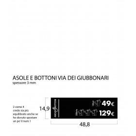 Targhe Shirts 48,8x14,9 nero sp mm 3