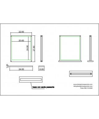 Cornice da tavolo verticale in plexiglas