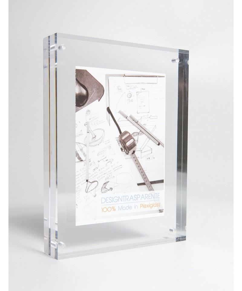 Cornice portafoto da tavolo in plexiglass trasparente - Portafoto da tavolo plexiglass ...