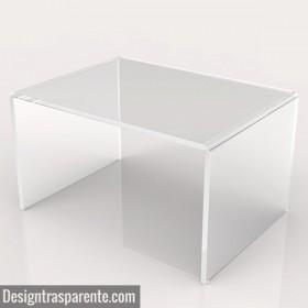 Mesa auxiliar cm 90x60 mesita baja de centro metacrilato transparente