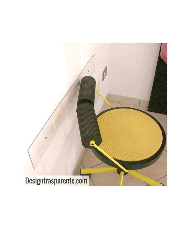 Battisedia fasce paracolpi in plexiglass trasparente su misura